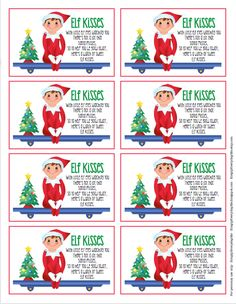 Elf on the Shelf FREEBIE!... Elf Kisses tags... now all you need is some chocolate kisses... enjoy!