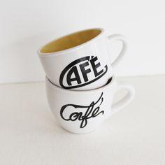 Vintage café cups.
