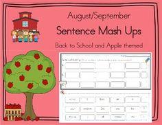 Daily 5 Word Work Sentence Mash Ups  August/September