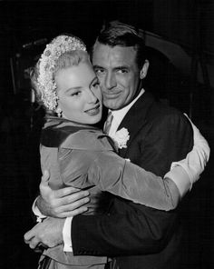 Cary Grant and Deborah Kerr on the set of Dream Wife