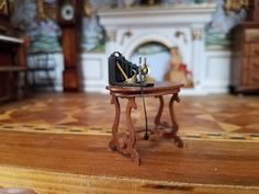 Dollhouse Miniature Artisan Table Signed ARK with Antique Camera 1:24 | eBay
