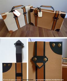 Paper Suitcases from T-shirt Boxes