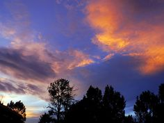 The summer monsoons always give our skies awesome color! A recent July sunset.