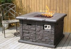 Propane Canister stored under fire pit