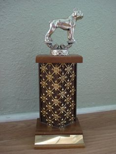 1970s Boston Terrier Dog Show Trophy 2012490 by bycinbyhand, $21.00