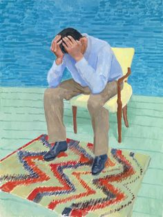"Beautiful David Hockney: ""Once I'm working, I really feel like Picasso, I really feel I am Breathtaking Jean-Pierre Goncalves De . David Hockney Portraits, David Hockney Paintings, Peter Blake, David Hockney Artist, James Rosenquist, Pop Art Movement, Kunst Online, Goncalves, Art Moderne"