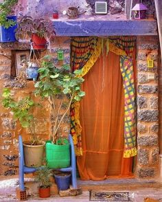 Bohemian front door - I just love bright colors sometimes :) *********************************************** (repin) #boho #bohemian #colorful