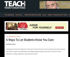 6 Ways to Let Students Know You Care