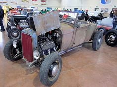 1929 Ford Model A Roadster Classic Hot Rod, Classic Cars, Old Hot Rods, Traditional Hot Rod, Vintage Iron, Vintage Racing, Street Rods, Ford Models, Kustom