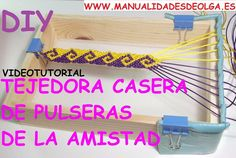 Como hacer un telar casero para hacer pulseras de nudos de macrame, ¡Una fácil y económica idea !   Manualidades
