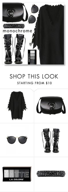 """""""All Black"""" by simona-altobelli ❤ liked on Polyvore featuring Chanel, Effy Jewelry, StreetStyle, monochrome, black, allblack and MyPowerLook"""