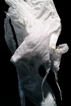 Bart Hess | garments created by lowering a person into a pool of water and wax (detail)