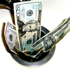 It's so easy to flush money down the drain. Be frugal and make more thoughtful decisions about how you use your money. My Money, Free Money, Saving Ideas, Money Saving Tips, Money Pictures, Do It Yourself Home, Money Matters, Frugal Living, Cleaning Hacks