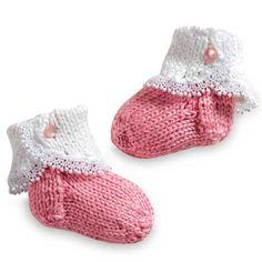 Fancy Knit Baby Socks Free Pattern
