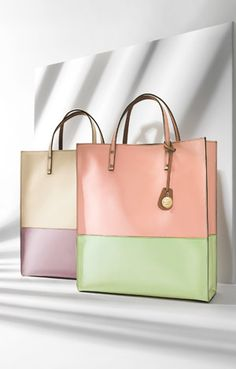 Pastel colour block Escada totes #Pastel ☮k☮