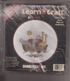 Dimensions Learn A Craft Noah NIP Sealed Counted Cross Stitch Kit 72316 #Dimensions #Sampler