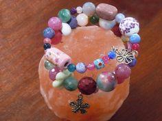 Bracciale Bohemian, bracciale colorato  donna, gioielli colorati, idea regalo donna, regalo donna, boho bracelet, memory wire, spring boho