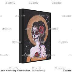 Belle Muerte day of the dead art by Renee Lavoie