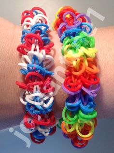 New Shagtastic Bracelet - One Loom - Rainbow Loom Jordantine1 Tutorial