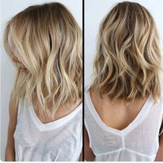 Love this messy long bob