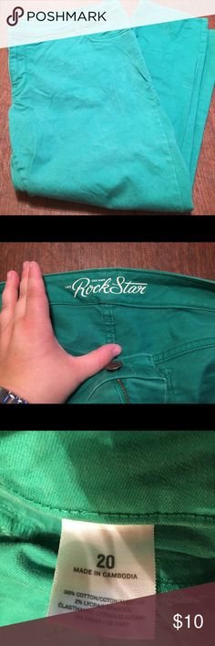 Green Old Navy Rock Star Jeans Green Old Navy Rock Star Jeans. Size 20. Old Navy Jeans Skinny