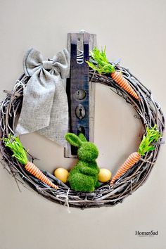 Homeroad-An Easy DIY Easter Wreath
