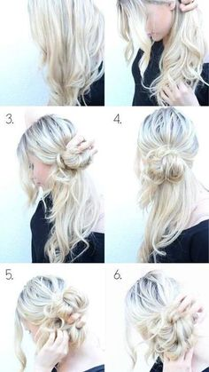 Ideas for hair tutorial updo pony tails messy ponytail Braided Hairstyles Updo, Ponytail Hairstyles Tutorial, Trendy Hairstyles, Updo Hairstyle, Side Hairstyles, Wedding Hairstyles, Messy Bun With Braid, Messy Ponytail, Messy Braids