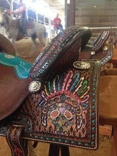 Custom Double J Saddle LOVE THIS SADDLE!!!!!!