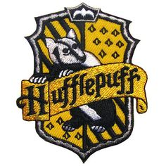 Harry Potter Iron on Patch / Embroidered Hogwarts House of Hufflepuff Crest Movie Collectors Badge