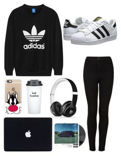 """""""Adidas~"""" by sxrxxrxs ❤ liked on Polyvore featuring adidas Originals, Topshop, Casetify, Bow & Drape and Beats by Dr. Dre"""
