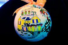 Hand Painted Ornament-Church House-Item by reneesprettypainted