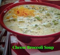Cheese Broccoli Soup made in a crock pot. I can't wait to give it a try!!