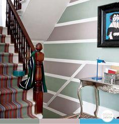 Bright.Bazaar: Take Your Pick: Colourful Hallway Stripes
