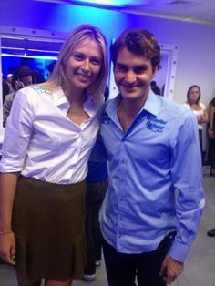 Maria Sharapova and Roger Federer 2004 Wimbledon champion
