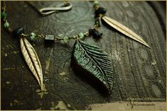 Leaf necklace fairy Handmade by Vocisconnesse on etsy