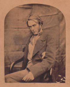 Fred Walters, a somewhat troubled artist associated with the Pre-Raphaelite Brotherhood. Photograph by Lewis Carroll, presumably after 1857 when Walters lost his right arm after falling off a ladder while drunk.