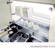 Escurridor de platos cerrado