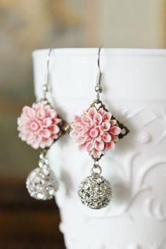 House of Sugar Darlings, Pink Darling Earrings, $25.00