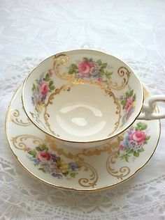 vintage tea cups | Tea cups - Antique