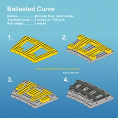 Two brick high ballasted curve