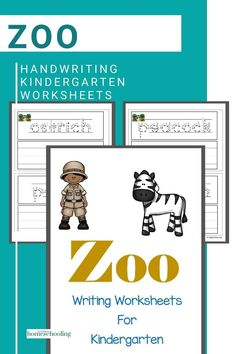 Enjoy these zoo writing worksheets for kindergarten that are designed to improve your kids zoo vocabulary Printable Handwriting Worksheets, Printable Preschool Worksheets, 1st Grade Worksheets, Reading Worksheets, Free Preschool, Free Math, Kindergarten Worksheets, Homeschool Kindergarten, Kindergarten Writing