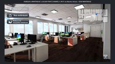 Image issue d'une Maquette Virtuelle 3D Interactive de bureaux - Vue intérieure