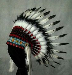 Kids Indian Headdress, Indischer Kopfschmuck Kinder, Coiffe Indienne Enfant #Handmade Headdress, Hand Fan, Indian, Clothing, Handmade, Accessories, Shoes, Children, Indian Head Jewelry
