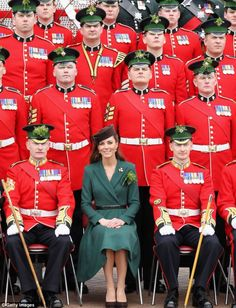 St. Patrick's Day 2012 parade: Duchess of Cambridge Kate Middleton presents shamrocks to guardsmen | Mail Online