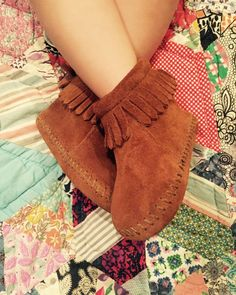 Infant & toddler Minnetonka booties are here! #littlefeet #love #moccasins
