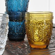 Glass tumblers for a colourful table. #colourfulchristmasglasses £6 each