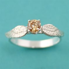 Harry Potter Golden Snitch Engagement Ring - Spiffing Jewelry - Add custom text inside for $15 more!