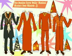 MAGICAL MYSTERY TOUR WIZARD PAPER DOLL CLOTHES! by 89000007ANL.deviantart.com on @deviantART