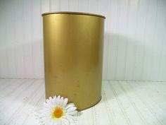 Vintage Petite Brass Metal Waste Can  Retro by DivineOrders, $18.00