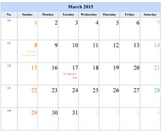 Blank Printable Calendar 2015 March Also see the category . March 2015 Calendar, 2015 Calendar Printable, Desktop Calendar, Creation Coloring Pages, Fall Coloring Pages, Printable Coloring Pages, Canada Holiday, Holiday Day, Broken Words